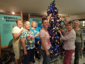 Decorating Disney Tree at Plantation High School