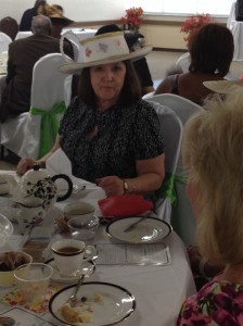 Our woman of the year for 2014 - Addie Travers - and her teacup hat!