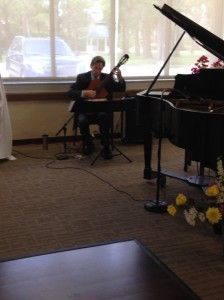 Entertainment included classical guitar, piano, and a singer